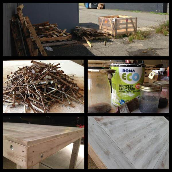 supply for pallet coffee table