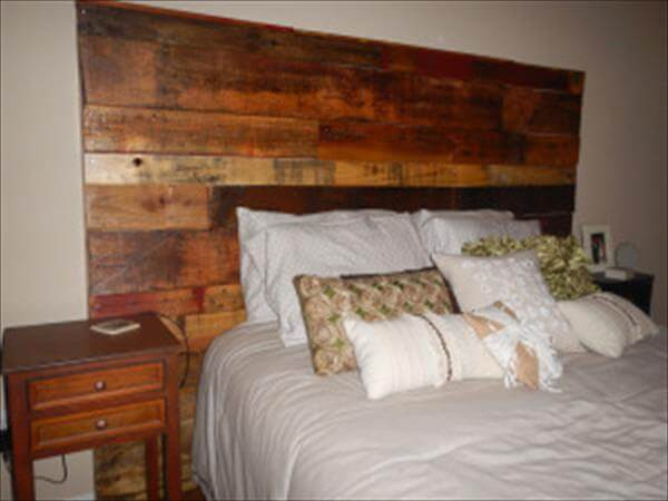 Diy wood pallet headboard instructions pallet furniture diy for How to make a wood pallet headboard