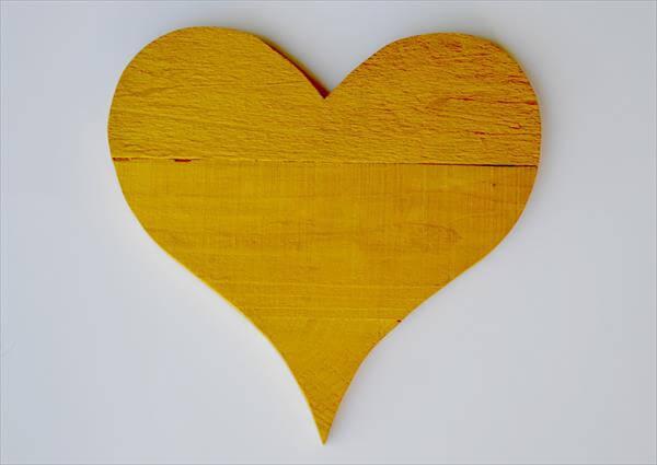 restored pallet heart