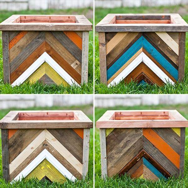 Diy planter box out of pallet wood pallet furniture diy for How to make a planter box out of pallets