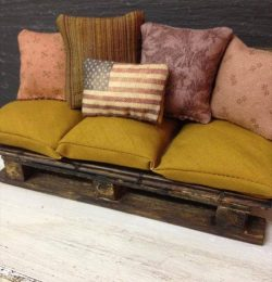 Pallet Sofa and Cushions