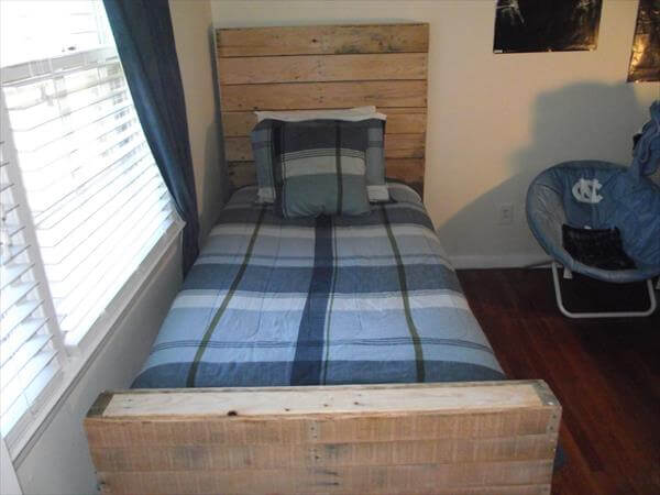 pallet twin bed