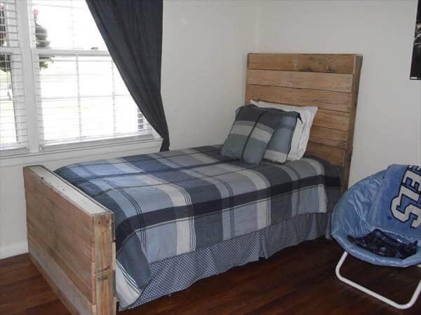 diy pallet twin bed