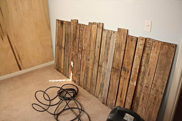Pallet Wall For Room Living Pallet Furniture Diy