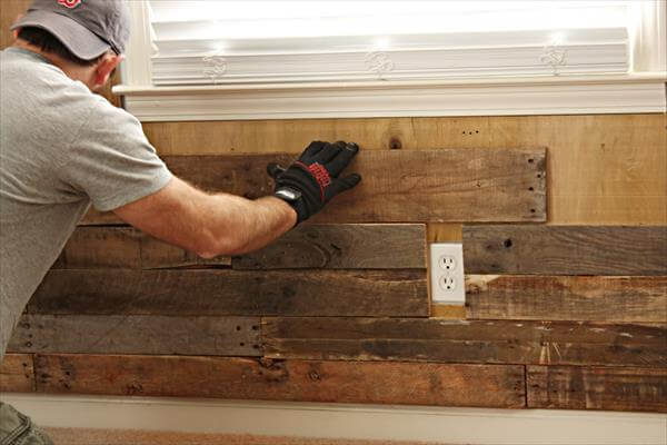 Pallet Wall For Room Living Furniture DIY