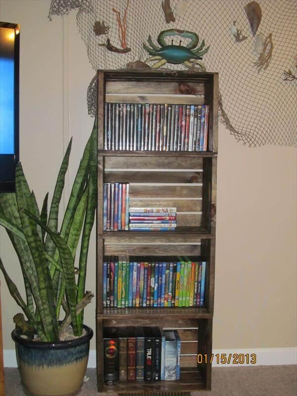 DIY Pallet Bookshelf Furniture 600 x 800