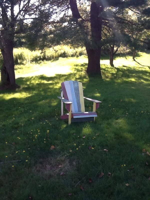 diy pallet adirondack chair