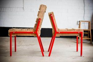 diy pallet chairs with metal legs