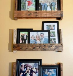 upcycled pallet picture shelf