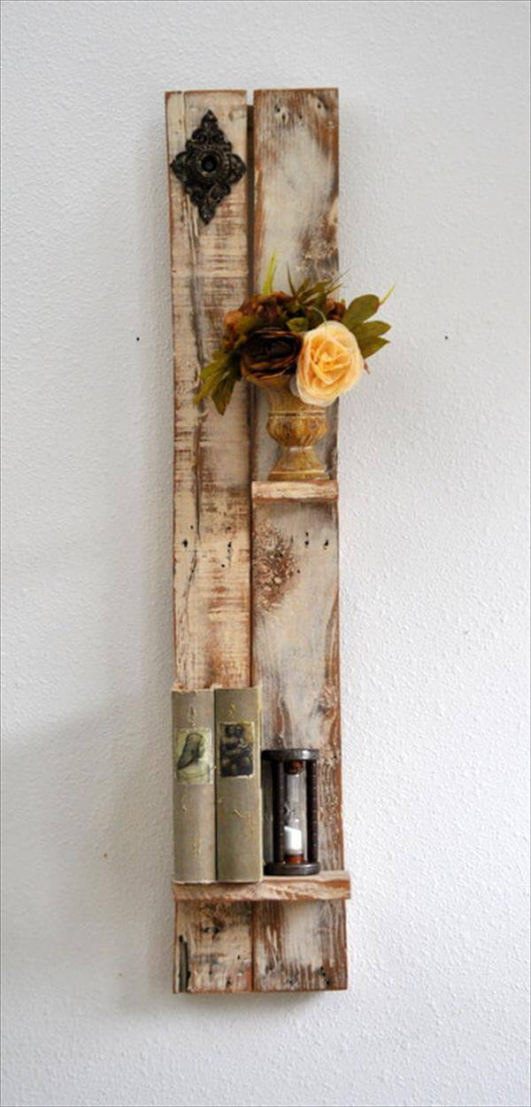 Diy Decorative Shelf Made From Pallets Wood Pallet Furniture Diy