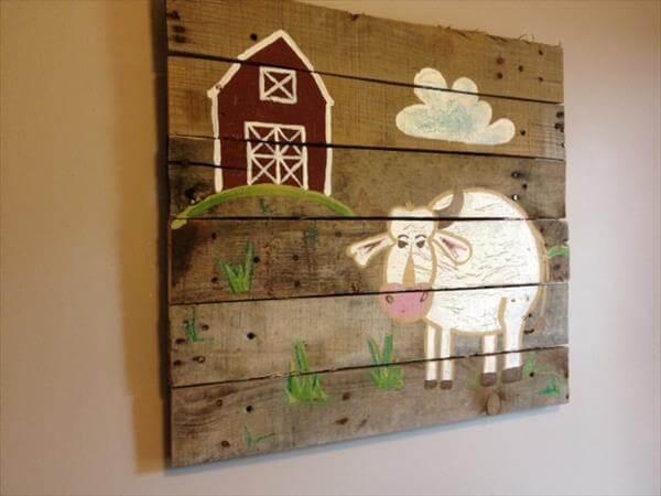 DIY Pallet Baby Room Wall Art | Pallet Furniture DIY