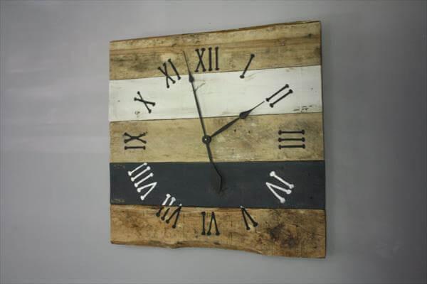 Diy Antique Pallet Wall Clock Pallet Furniture Diy