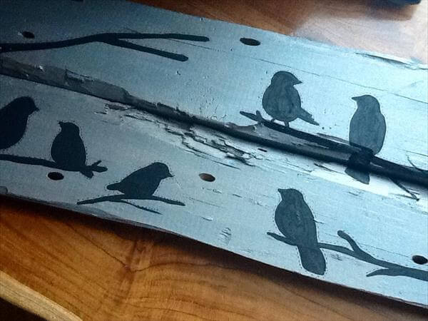 reclaimed pallet bird wall art