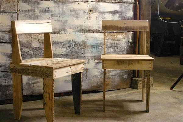 DIY Free Rustic Chairs Out Of Pallets Pallet Furniture DIY