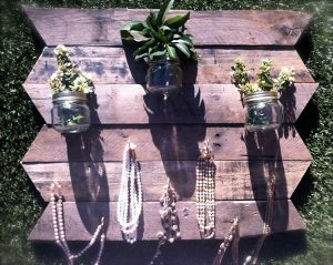 recycled pallet chevron rack