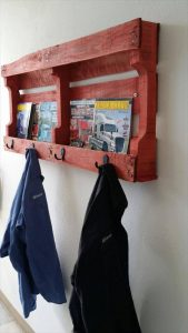 recycled pallet coat rack