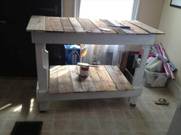 Table pallet and lumber kitchen island diy pallet kitchen island table
