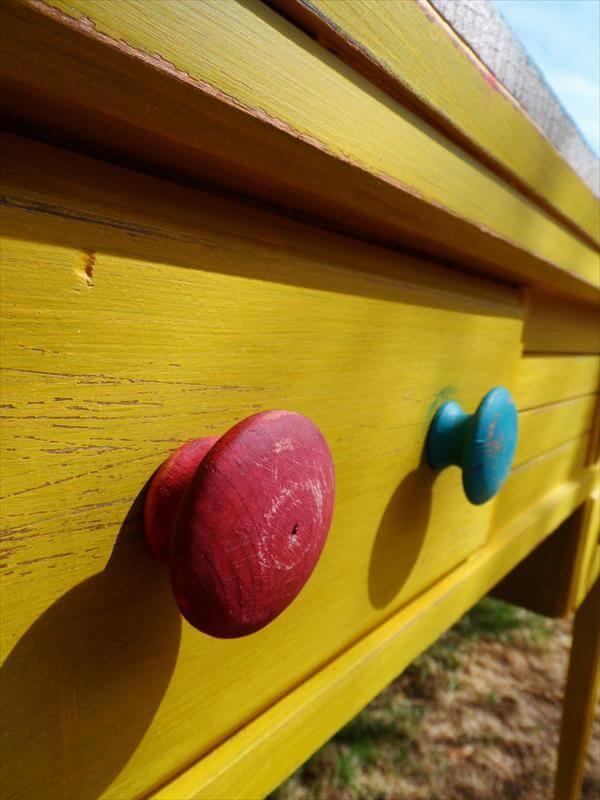 diy pallet sewing cabinet