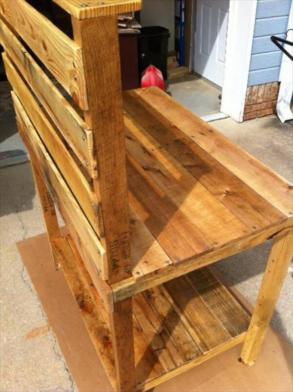 potting table out of pallets