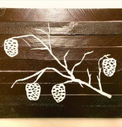 DIY Tree Pallet Wall Art
