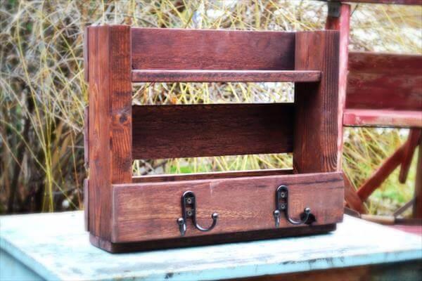 rustic pallet coat rack