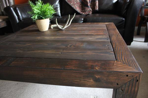 how to make a rustic pallet coffee table. pallet unique coffee