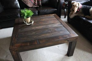 rustic pallet wooden coffee table