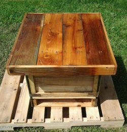 rustic pallet mini table