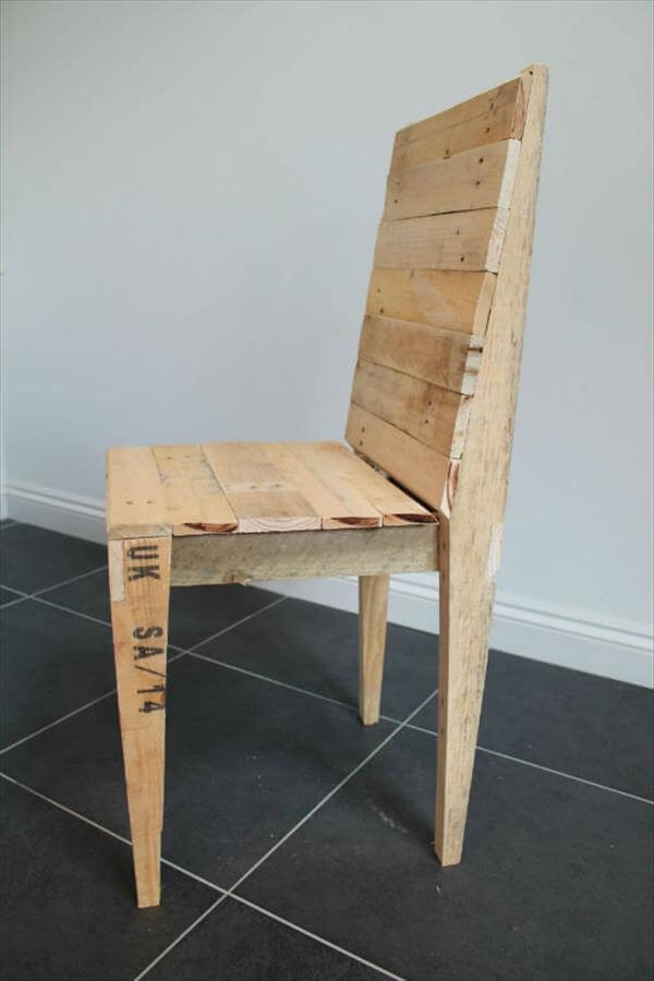 Reclaimed Pallet Dining Chair Pallet Furniture DIY : dining chair 3 from palletfurniturediy.com size 600 x 900 jpeg 36kB
