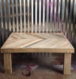 upcycled pallet chevron coffee table