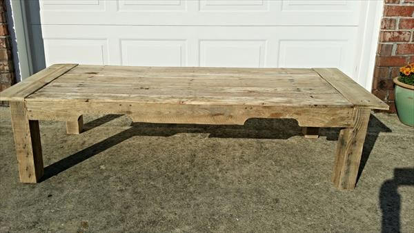 recycled crumbled pallet coffee table