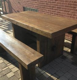restored pallet dining set