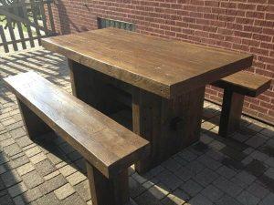 restored pallet dining set