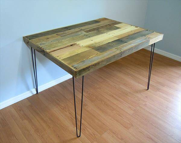 upcycled pallet industrial pallet table