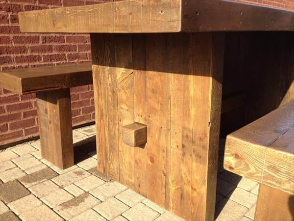 recovered pallet dining set