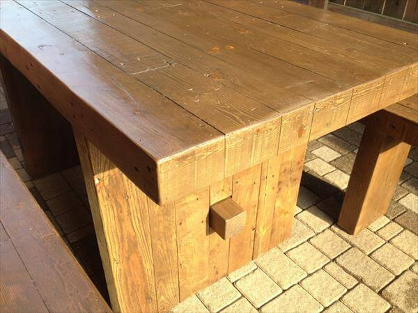 upcycled pallet dining set