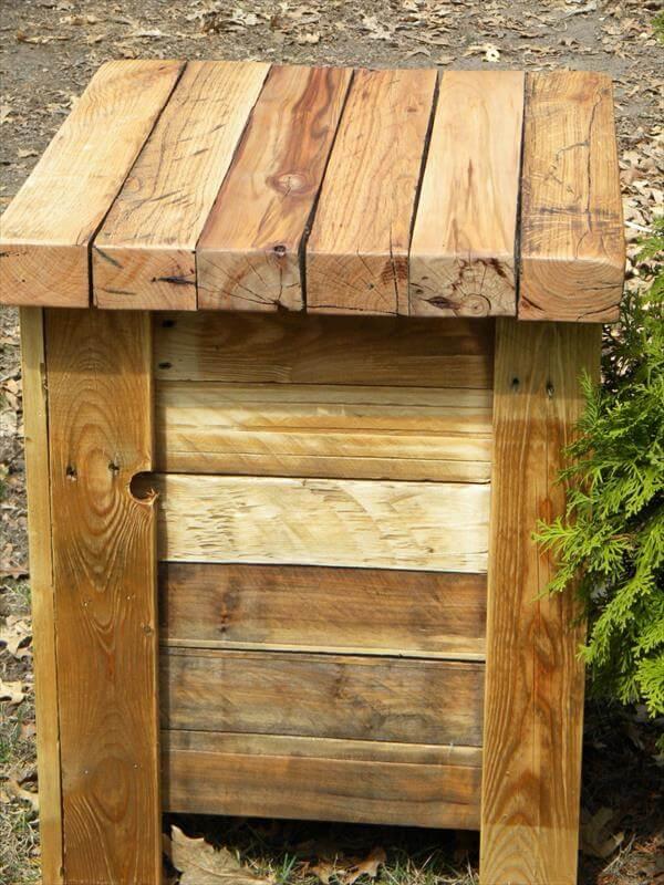 restored pallet end table