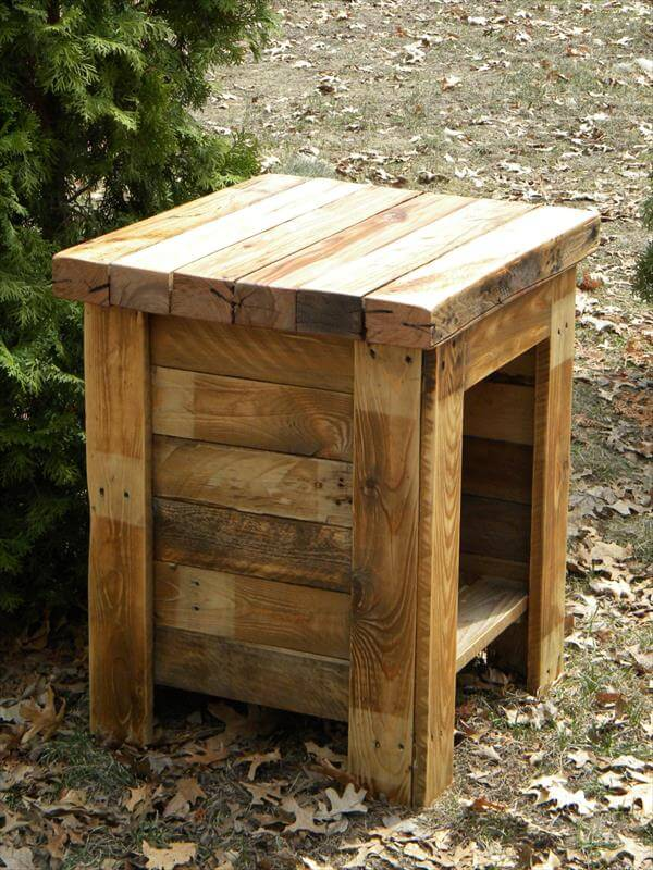 Diy Wood End Table Pallet Furniture Diy