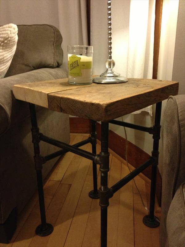 Nell wooden tell a diy coffee table industrial for Diy coffee and end tables