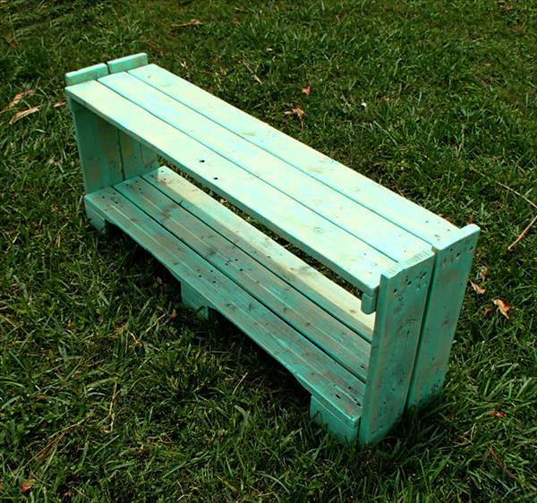 handcrafted pallet shelf