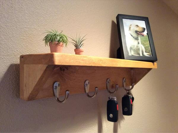 recycled pallet rack and shelf