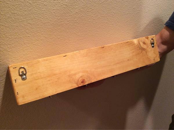 diy pallet wooden shelf
