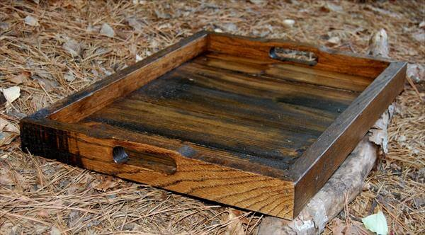 recycled pallet tray