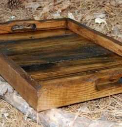 upcycled pallet tray