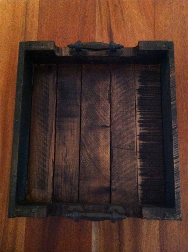 reclaimed pallet rustic tray