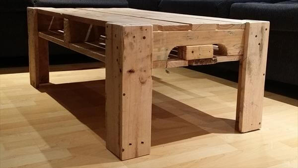 reclaimed pallet furniture. upcycled pallet coffee table with storage reclaimed furniture e
