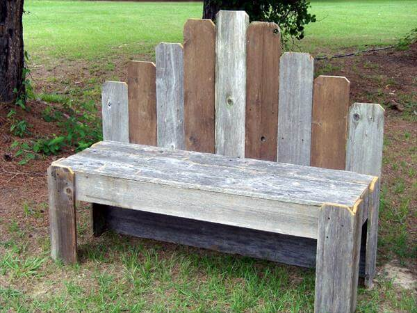 rustic pallet covered bench plan pallet furniture diy