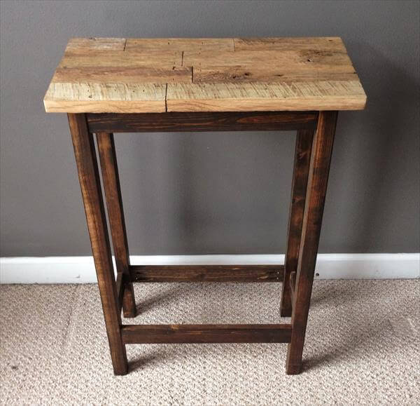 ... frame out of pallets pallet side table end table nightstand diy pallet