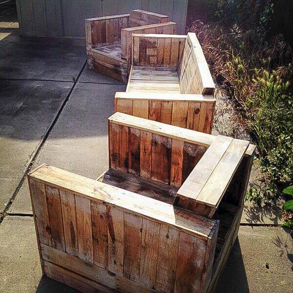 diy pallet patio sofa and chairs
