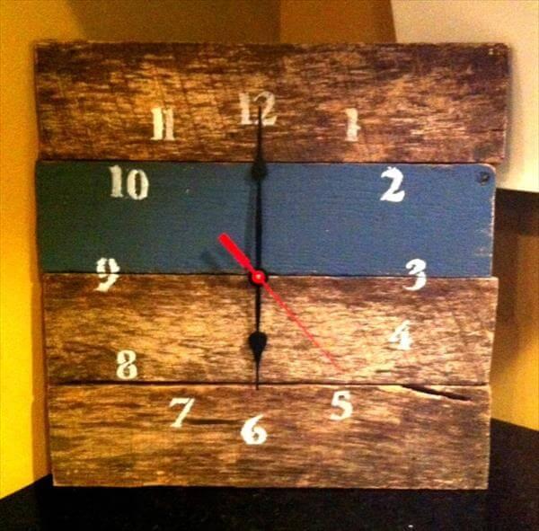 resurrected pallet wall clock